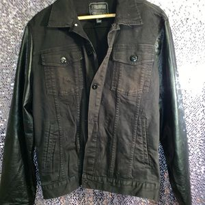 Men's Leather/ Denim Jacket